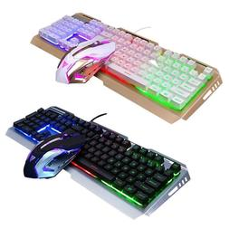 V1 USB Wired Ergonomic Backlit Mechanical Gaming Keyboard +