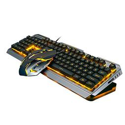Widewing V1 USB Wired Mechanical Feel Gaming Keyboard and Mo