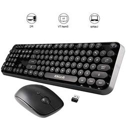 SADES V2020 Wireless Keyboard and Mouse Combo,Retro Keyboard