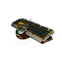 Wired Gaming Keyboard and mouse combo Orange Yellow LED Ligh
