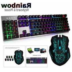 wired gaming keyboard and mouse set kit