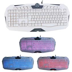 Wired Gaming Keyboard Game USB LED Backlight Illuminated for
