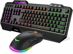 wired gaming keyboard mouse combo led gaming