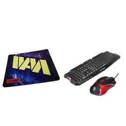 Wired Keyboard Mouse and Mouse Pad Combo for Professional Ga