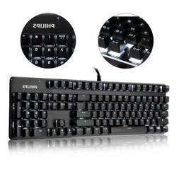 Wired Mechanical Handfeel 104 Keys Gaming Keyboard LED Backl