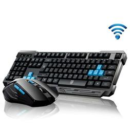 Wireless Gaming Keyboard And Mouse Combo USB Bundle Kit Set