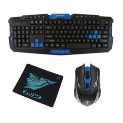 Wireless Gaming Keyboard and Mouse Kit for PC With Mouse Pad