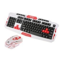 Wireless Gaming Keyboard and Mouse Set for Desktop With Mous