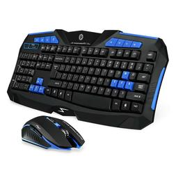 Picktech F1 Wireless Keyboard Mouse Combo, 2.4GHz Full Size