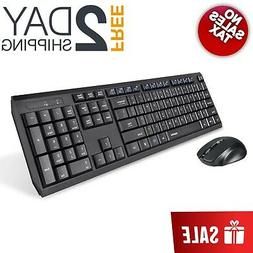 Wireless Keyboard Mouse Gaming Cordless Combo Thin Quiet Erg