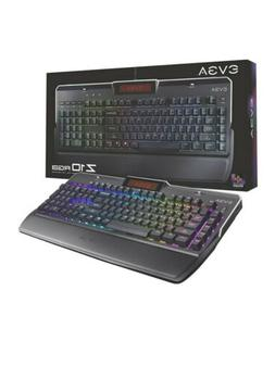 EVGA Z10 RGB Gaming Keyboard, RGB Backlit LED, Mechanical Br